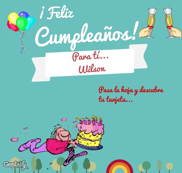 Cumpleanos Wilson By Marthajanethco On Genial Ly